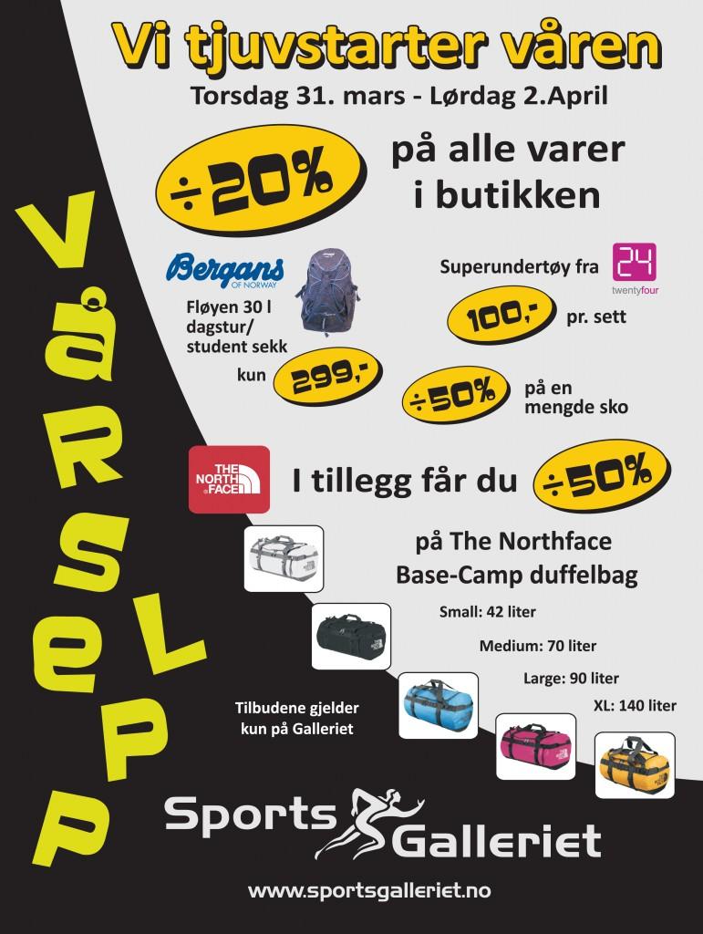 Sportsgalleriet (annonse) vårslepp 0311